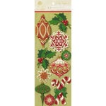 Anna Griffin - Holiday Traditions Collection - Christmas - Glittered 3 Dimensional Stickers