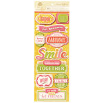 Anna Griffin - Carmen Collection - Glittered 3 Dimensional  Stickers - Title