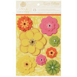 Anna Griffin - Carmen Collection - 3 Dimensional Stickers with Gem Accents - Flowers