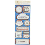 Anna Griffin - Willow Collection - Foiled 3 Dimensional  Stickers - Title