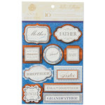 Anna Griffin - Willow Collection - 3 Dimensional  Stickers with Glitter Accents  - Title