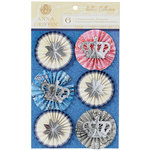 Anna Griffin - Willow Collection - 3 Dimensional Stickers with Foil Accents