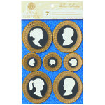 Anna Griffin - Willow Collection - Foiled 3 Dimensional  Stickers - Silhouettes