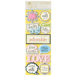 Anna Griffin - Fifi and Fido Collection - Foiled 3 Dimensional Cardstock Stickers - Title