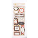 Anna Griffin - Honoka Collection - Foiled 3 Dimensional Cardstock Stickers - Titles