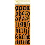 Anna Griffin - Esmerelda Collection - Halloween - Glitter Chipboard Stickers - Alphabet - Black, CLEARANCE
