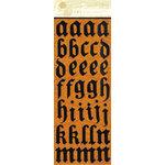 Anna Griffin - Esmerelda Collection - Halloween - Glitter Chipboard Stickers - Alphabet - Black, CLEARANCE