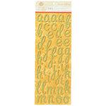 Anna Griffin - Carmen Collection - Glittered Chipboard Stickers - Alphabet - Green