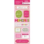 Anna Griffin - Blomma Collection - 3 Dimensional Stickers - Titles