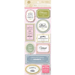 Anna Griffin - Eleanor Collection - 3 Dimensional Stickers - Titles