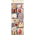 Anna Griffin - Jolie Collection - 3 Dimensional Stickers with Foil Accents - Art