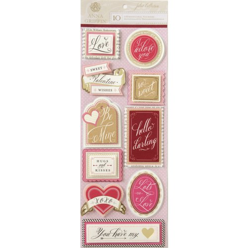 Anna Griffin - Juliet Collection - 3 Dimensional Stickers - Title