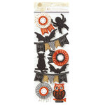 Anna Griffin - Endora Collection - Halloween - 3 Dimensional Cardstock Stickers - Art