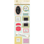 Anna Griffin - Rose Collection - 3 Dimensional Stickers - Title