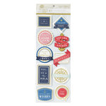 Anna Griffin - Seafarer Collection - 3 Dimensional Stickers - Title