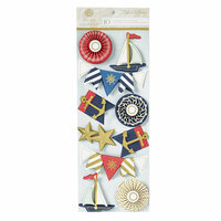 Anna Griffin - Seafarer Collection - 3 Dimensional Stickers - Art