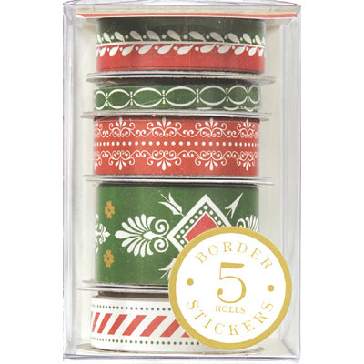 Anna Griffin - Holiday Traditions Collection - Christmas - Border Stickers