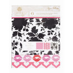 Anna Griffin - Peyton Collection - 8 x 8 Designer Transparency Overlay Pack - 6 Sheets, CLEARANCE