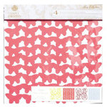 Anna Griffin - Flora Collection - 12 x 12 Designer Die Cut Paper - 4 Sheets, CLEARANCE