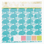 Anna Griffin - Riley Collection - 12 x 12 Designer Die Cut Paper - 4 Sheets, CLEARANCE