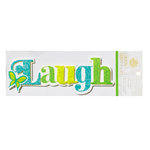 Anna Griffin - Isabelle Collection - Glittered 3 Dimensional Stickers - Laugh, CLEARANCE