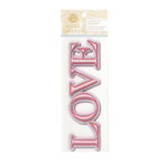 Anna Griffin - Cecile Collection - Glittered 3 Dimensional Stickers - Love