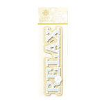 Anna Griffin - Calisto Collection - Glittered 3 Dimensional Stickers - Relax, CLEARANCE