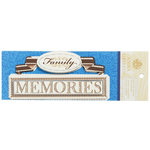 Anna Griffin - Willow Collection - Foiled 3 Dimensional Stickers - Family Memories