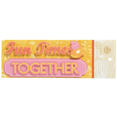 Anna Griffin - Carmen Collection - Glittered 3 Dimensional Stickers - Fun Times Together