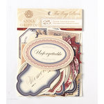 Anna Griffin - Fleur Rouge Collection - Foiled Die Cut Pieces - Word