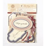 Anna Griffin - Fleur Rouge Collection - Foiled Die Cut Pieces - Word