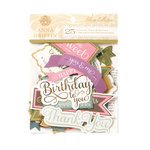 Anna Griffin - Olivia Collection - Foiled Die Cut Pieces - Titles