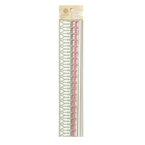 Anna Griffin - Olivia Collection - Self Adhesive Die Cut Borders