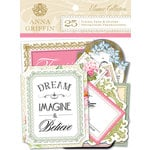 Anna Griffin - Eleanor Collection - Foiled Die Cut Pieces - Titles