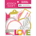 Anna Griffin - Blomma Collection - Foiled Die Cut Pieces - Titles