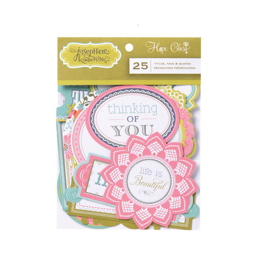 Anna Griffin - Hope Chest Collection - Foiled Die Cut Pieces - Titles