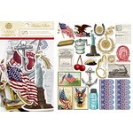 Anna Griffin - Madison Collection - Die Cut Cardstock Pieces - Art