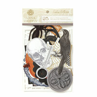 Anna Griffin - Endora Collection - Halloween - Die Cut Cardstock Pieces - Embellishments