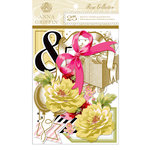 Anna Griffin - Rose Collection - Die Cut Cardstock Pieces - Embellishments