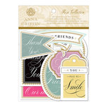 Anna Griffin - Rose Collection - Die Cut Cardstock Pieces - Sentiments