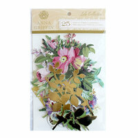 Anna Griffin - Lila Collection - Die Cut Cardstock Pieces with Foil Accents