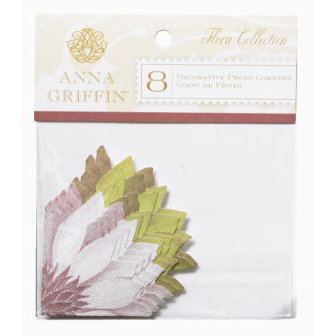 Anna Griffin - Flora Collection - Decorative Photo Corners, CLEARANCE