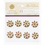 Anna Griffin - Flora Collection - Decorative Brads - Flower, CLEARANCE