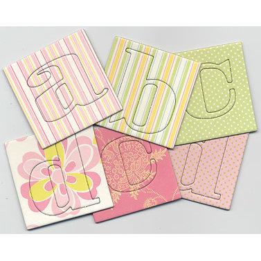 Anna Griffin - LuLu Collection - Chipboard Alphabet