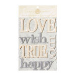 Anna Griffin - Georgette Collection - Embroidered Word Embellishments, CLEARANCE