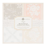 Anna Griffin - Georgette Collection - 8x8 Flocked and Glittered Cardstock Pack