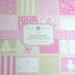 Anna Griffin - Hannah Collection - 12x12 Flocked and Embossed Cardstock Pack - Pink