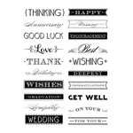 Anna Griffin - Clear Acrylic Stamps - Lovely Letterpress