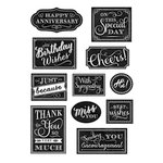 Anna Griffin - Clear Acrylic Stamps - Chalkboard Sentiment