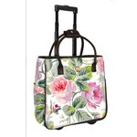 Anna Griffin - Grace White Collection - Laminated Fabric Rolling Bag